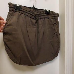 Aritzia Community army green skirt